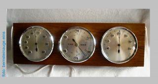 Alte Wetterstation Fa.  Lufft Barometer Hygrometer Thermometer 50/60/70er Jahre Bild