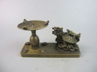 Sehr Exquisite Schöne Sammlung Kupfer ,kerzen Tabelle,china Wohl 19.  Jhd Bild