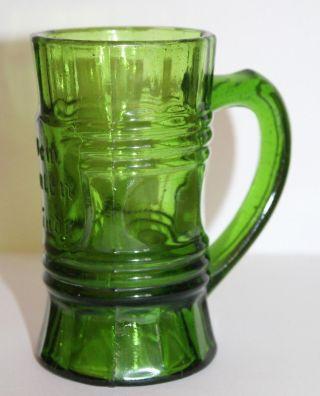 Alter Kleiner Glas Humpen / Becher - Dem Guten Kinde - Grün - Jugendstil Um 1900 Bild
