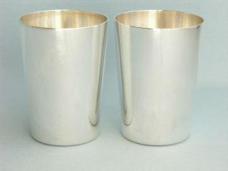 Paar Becher Aus Massiv Sterlingsilber,  Fa.  Vietor,  925er Silber Bild