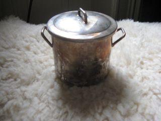 Versilberte Oder Silber Töpfchen Mit Einsatzschälchen - Orfevrerie France Bild