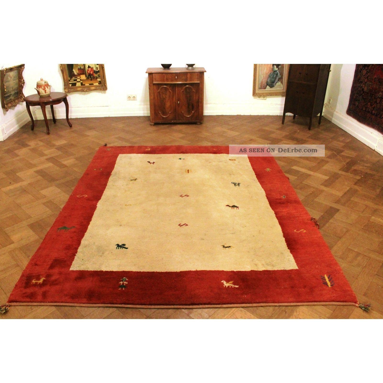 sch ner handgekn pfter orient teppich gabbeh tiermotive carpet tappeto 250x200cm. Black Bedroom Furniture Sets. Home Design Ideas