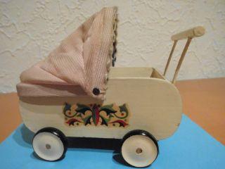 Puppenwagen Für Puppenstube Ddr 60er Jahre Holz - Seltenheit Bild