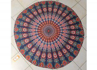 Runde Tischdecke Strandtuch Schultertuch Schal Platzmatte – 150 Cm – Boho Style Bild
