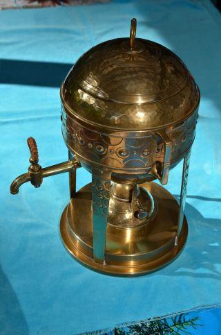 Jugendstil Wmf Straußenmarke Spiritus Wasserkocher Kupfer Gehämmert 1890/1910 Bild