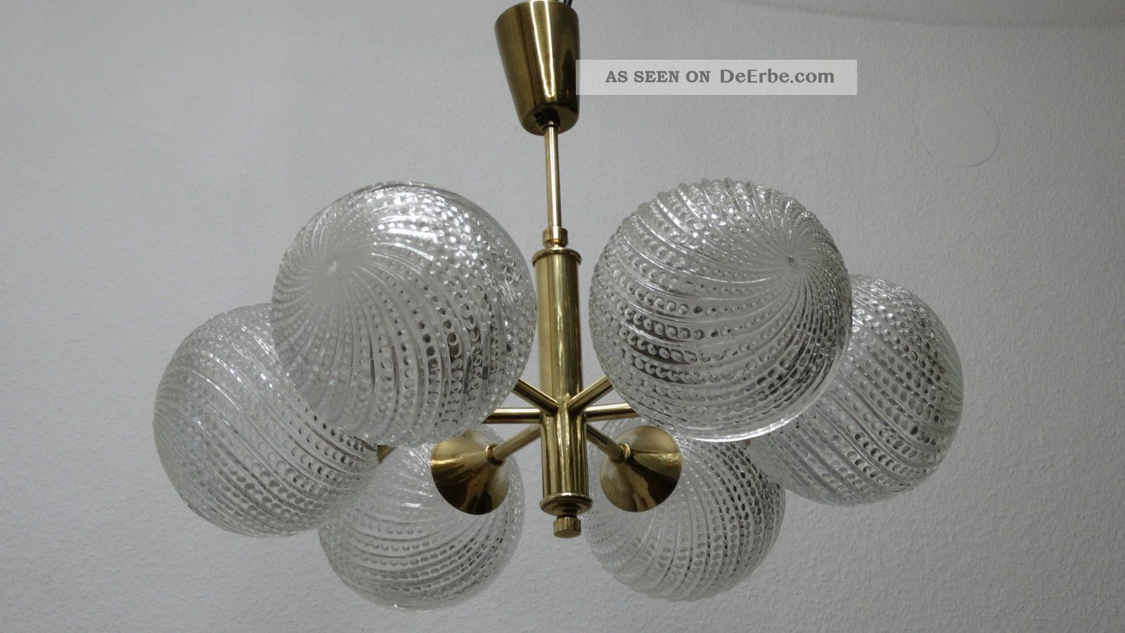 Messing glaskugel deckenleuchte lampe kugel ufo leuchte for Deckenleuchte lampe