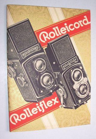 Reklame Broschüre Rolleicord Colleiflex Rollkamera Um 1935 Bild