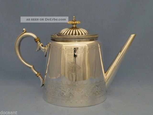 Teekanne - Versilbert - Birmingham Um 1890 - 1,  5 L.  - Taunton & Johnson Objekte vor 1945 Bild