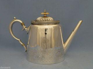 Teekanne - Versilbert - Birmingham Um 1890 - 1,  5 L.  - Taunton & Johnson Bild