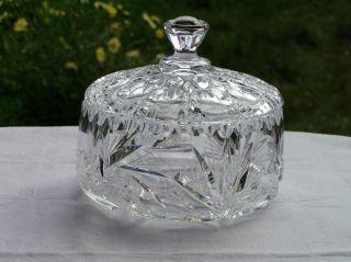 Bleikristall Bonboniere,  Honig Marmelade Zucker Pralinen,  Beschliffen,  Ø 139mm Bild