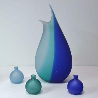 Große Vase 38 Cm,  3 Kleine Kugelvasen Glas Elegant Künstlerisch Bild