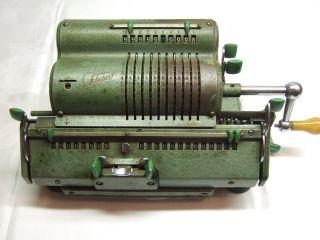 Alte Mechanische Rechenenmaschine Von Schubert Drv 75f313 Bild