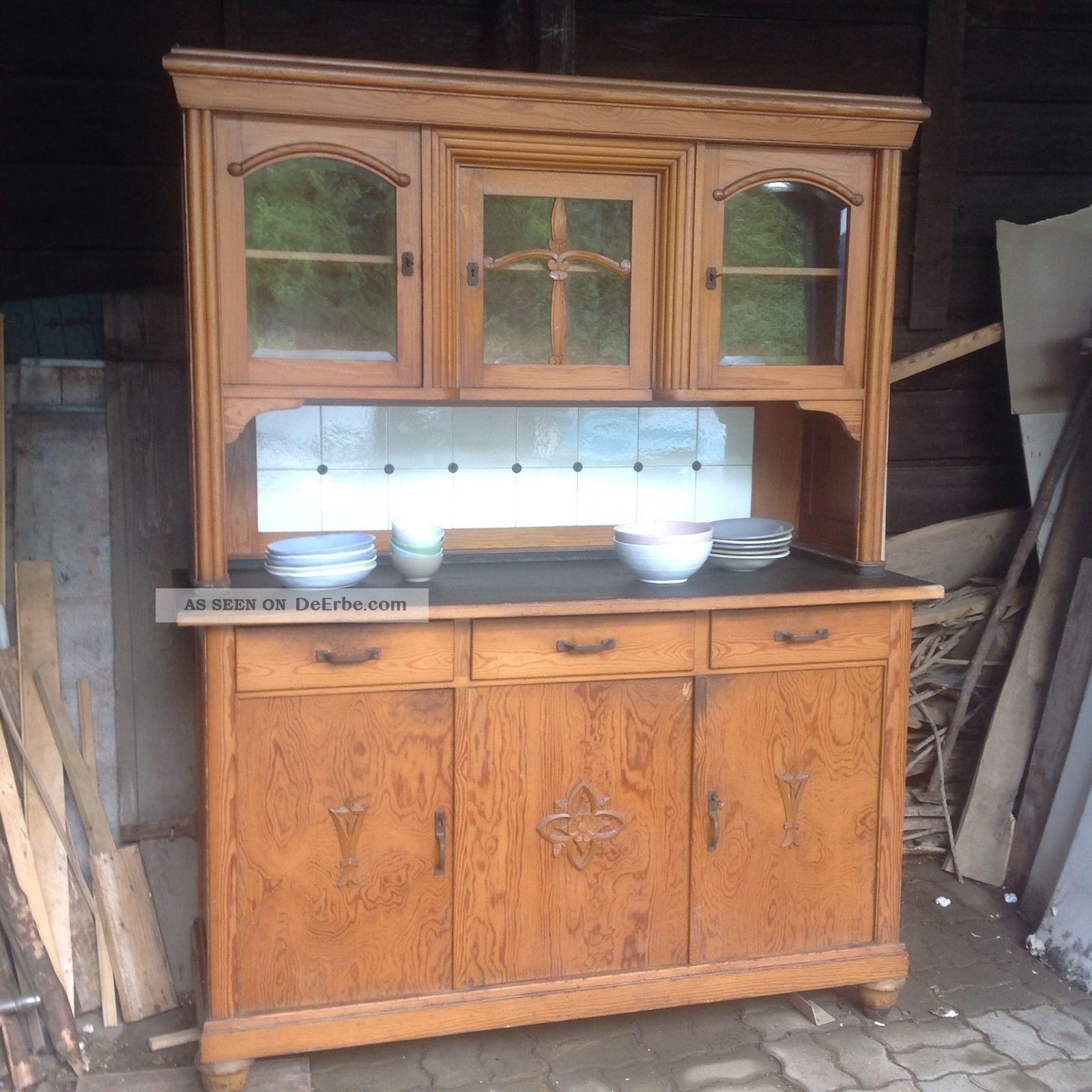 wundersch nes k chenbuffet buffet um 1920 antik weichholz. Black Bedroom Furniture Sets. Home Design Ideas
