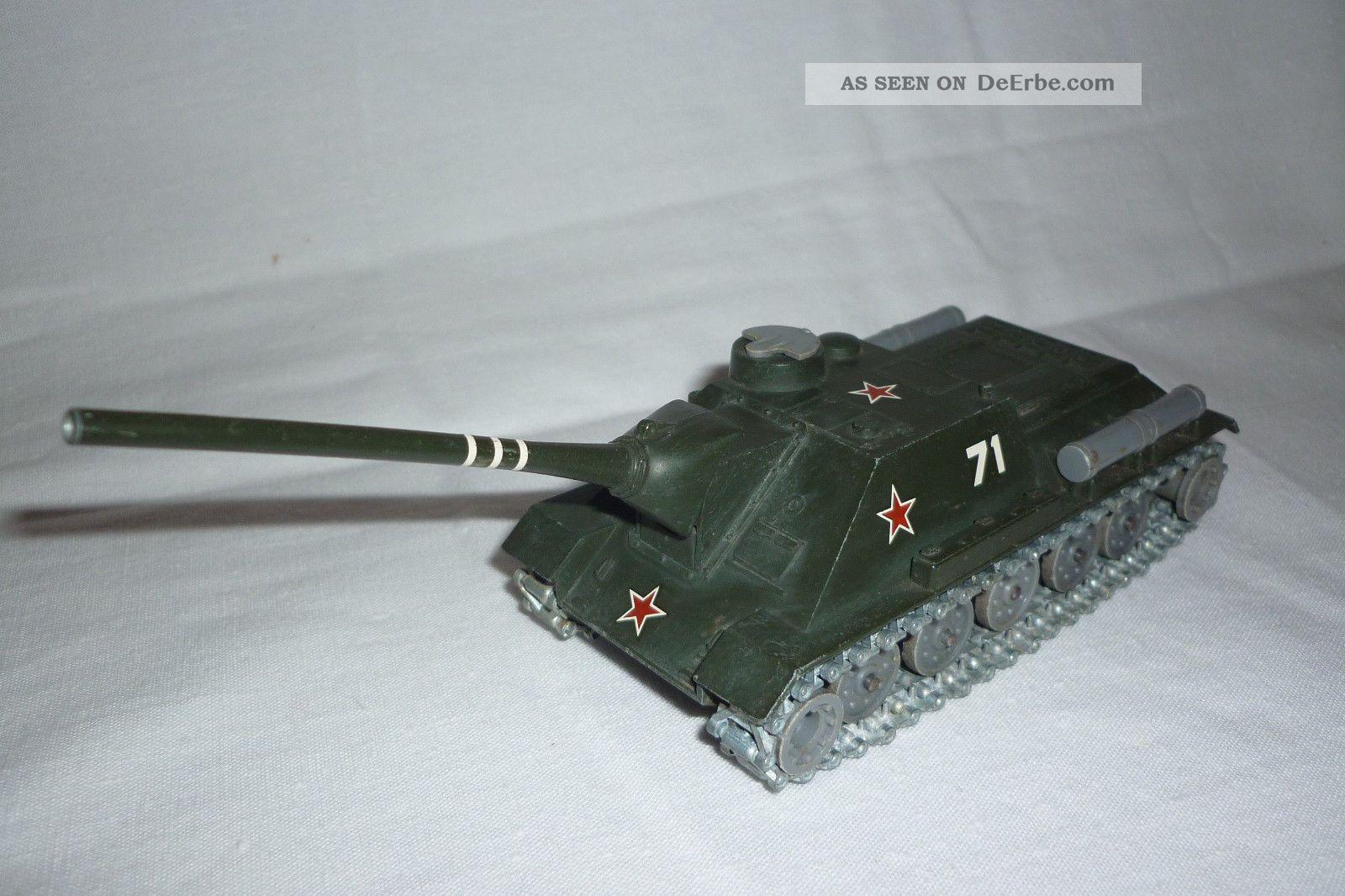 Solido - Metallmodell - Panzer / Tank - Char Su 100 - Ussr - 1:50 - (4.  Bm - 62) Gefertigt nach 1970 Bild