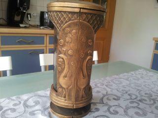 Grablampe / Grablaterne Bronze Bild