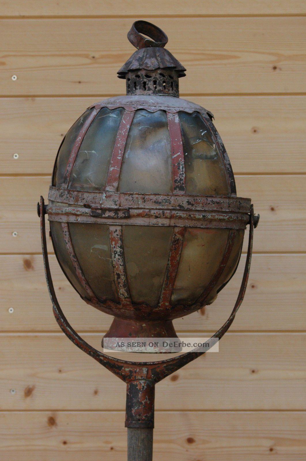Antike Prozessionslaterne Aus Süddeutschland Prozessionslampe Lampe Prozession Kirchliches Gerät & Inventar Bild