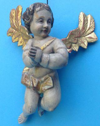 Volkskunst Geschnitzte Barock Figur Barockengel Engel Putte Putto 1800 Bild