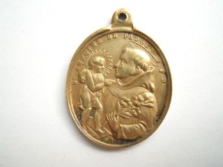 Pilgeranhänger Schutzamulett Antonio Von Padua Antoine Padoue Engel Bild