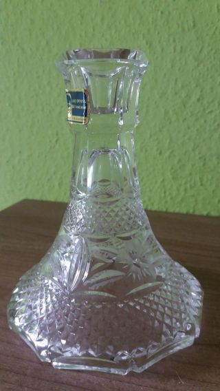 Geschliffener Bleikristall - Kerzenhalter 14 Cm Hoch,  Durchmesser Höhe 11 Cm Bild