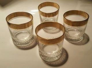 4 Gläser Mit Goldrand Theresienthal Mintonborde Whisky Bild