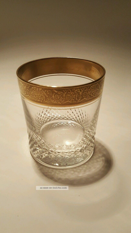 4 gl ser mit goldrand theresienthal mintonborde whisky. Black Bedroom Furniture Sets. Home Design Ideas