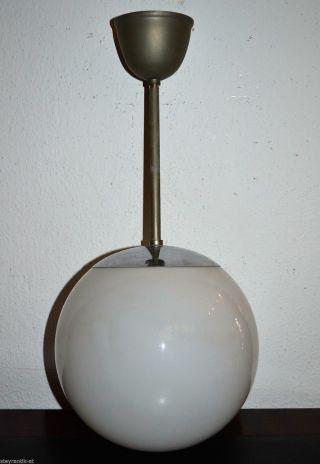 Art Deco Bauhaus Kugellampe Überfang Opalinglas Um 1930 /wagenfeld Ära Bild