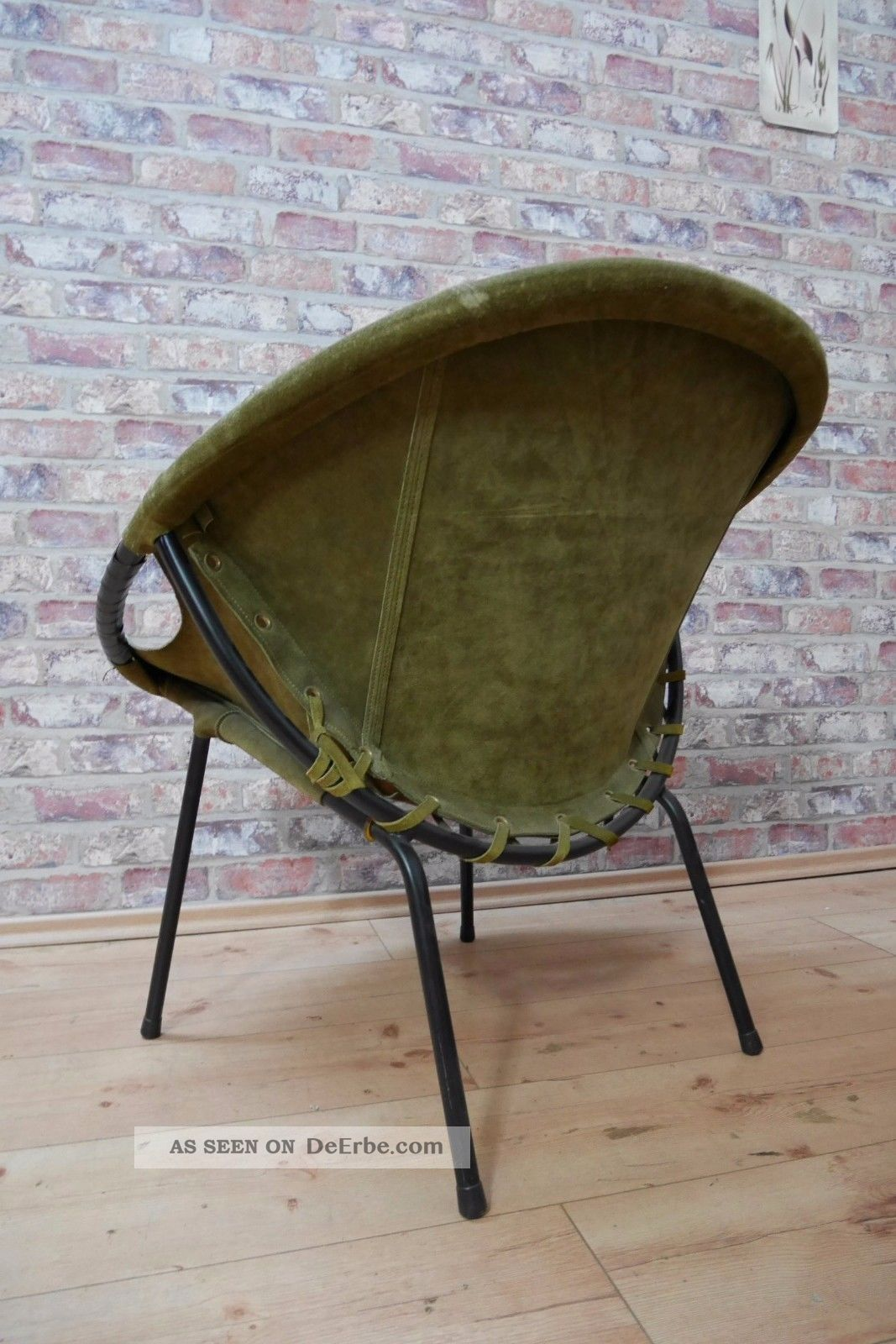 50er jahre sputnik chair cocktail sessel leder metallgestell 50s. Black Bedroom Furniture Sets. Home Design Ideas