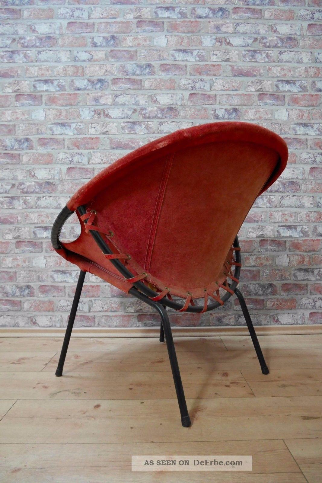 50er jahre sputnik chair cocktail sessel leder metallgestell 50s. Black Bedroom Furniture Sets. Home Design Ideas