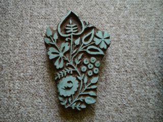 3 X Batikstempel Aus Indien Aus Hartholz Versch.  Art (& Alt) Bild