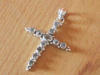 Anhänger Kreuz Mit Herkimer Diamant 925er Silber Bild