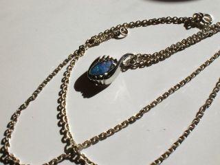 Halskette 925 Ln Und Anhänger 835 G U W Mit Opal Top Bild