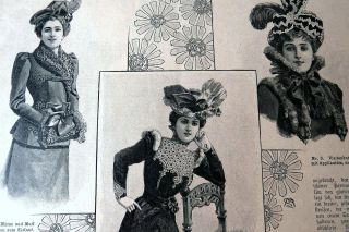 Der Bazar 3/1899 Damen Mode Zeitschrift Riesige Schnittmuster KostÜmbildner Rar Bild