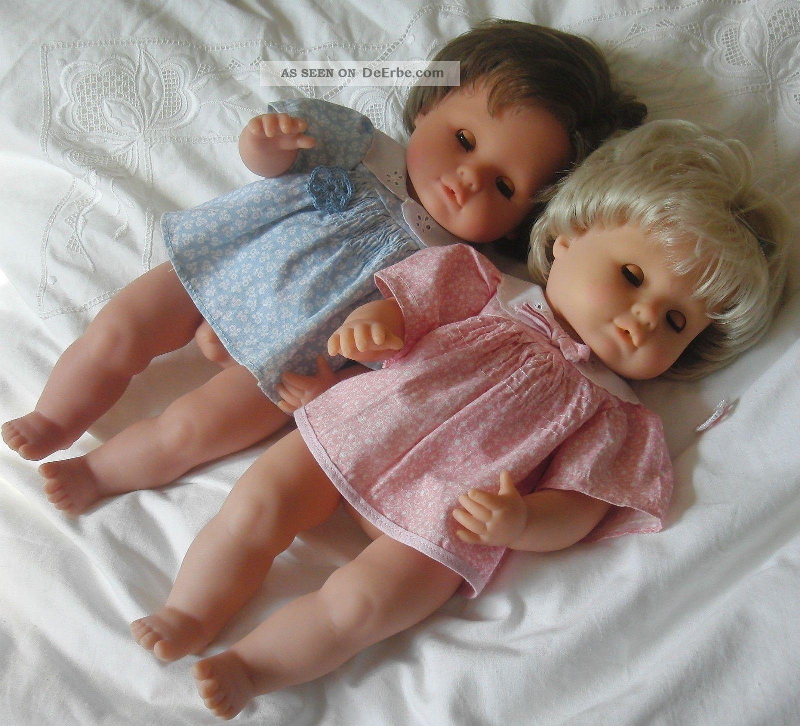 zwillinge m dchen junge puppen v max zapf vollvinyl 42 cm 80er j. Black Bedroom Furniture Sets. Home Design Ideas