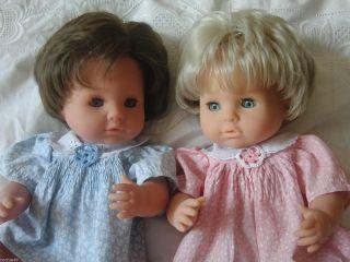 Zwillinge Mädchen & Junge Puppen V.  Max Zapf Vollvinyl 42 Cm 80er J. Bild