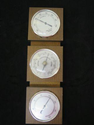 F92) Veränderlich Hygro - Thermo - Und Barometer / Sturm Regen Schön Trocken Tt Bild