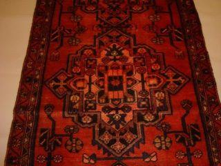 Handgeknüpfter Alter Orient Teppich Läufer Persischer Malayer Wolle 330x95cm Bild
