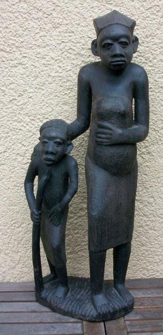 Makonde Figur (ebenholz,  Ebony) Aus Tansania,  African Art Bild