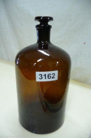 3162.  Alte Biedermeier Glas Flasche Bild