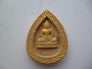 Buddha Altes Amulett Ton Tsa Tsa Vergoldet Bild