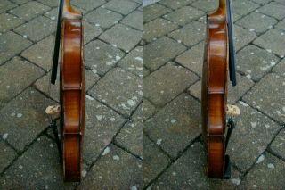 Alte 4/4 Geige Mit Zettel