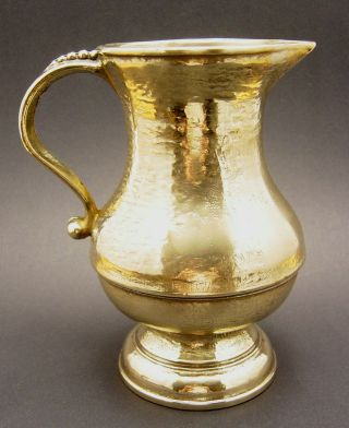 Bronze - Krug Ca 740 Gr,  U.  16 Cm Gr,  Handarbeit Bild