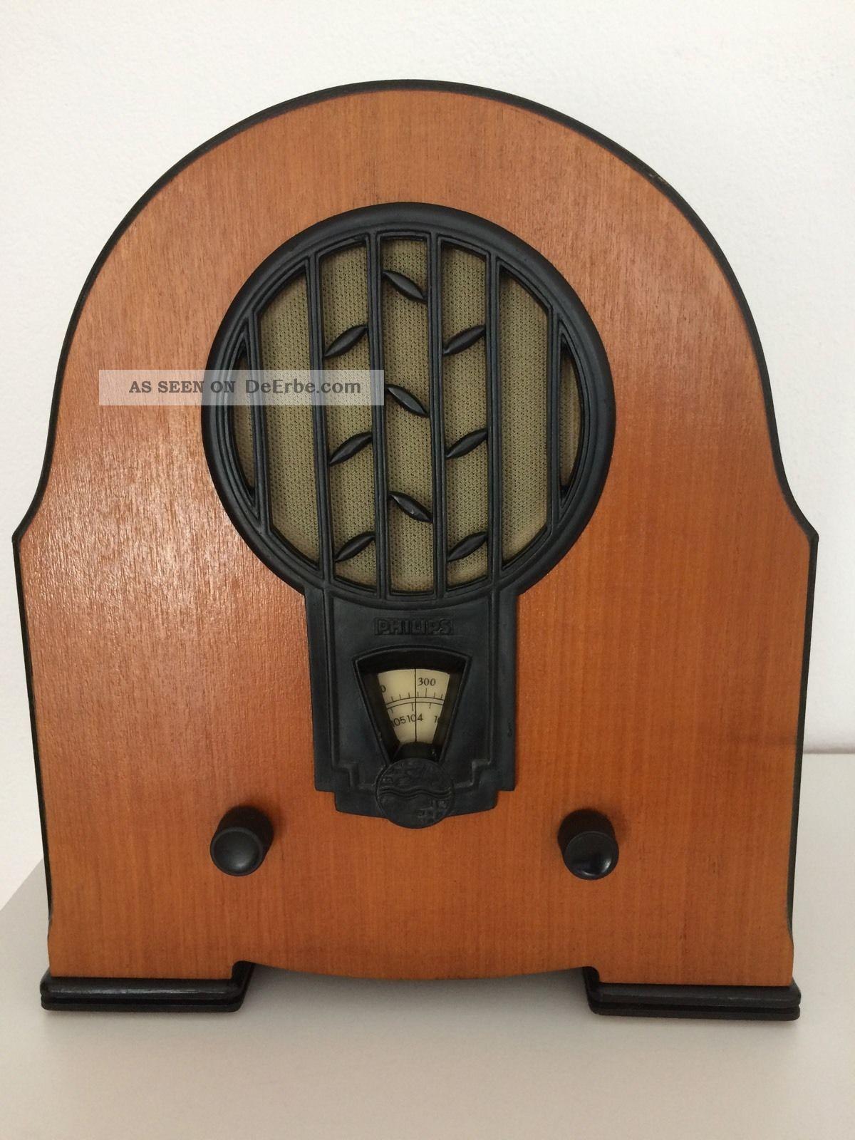 Philips Nostalgie Radio Rb 634/02 Antik Klassiker Retro Radio Antike Bild