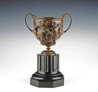 Bronze Kantharos Mit Kentaurenrelief Aus Pompeji Um 1880 Italien Grand Tour Bild