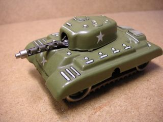 Pennytoy Gama Panzer Tank Blech Uhrwerk W.  Germany Tin Tole Latta Bild