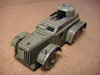 Pennytoy Cko 338 Panzerwagen Blech Uhrwerk Germany Vorkrieg Tin Tole Latta Bild