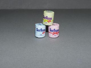 3 Rollen Toilettenpapier Puppenstube Bad 1:12 Badezimmer Bild