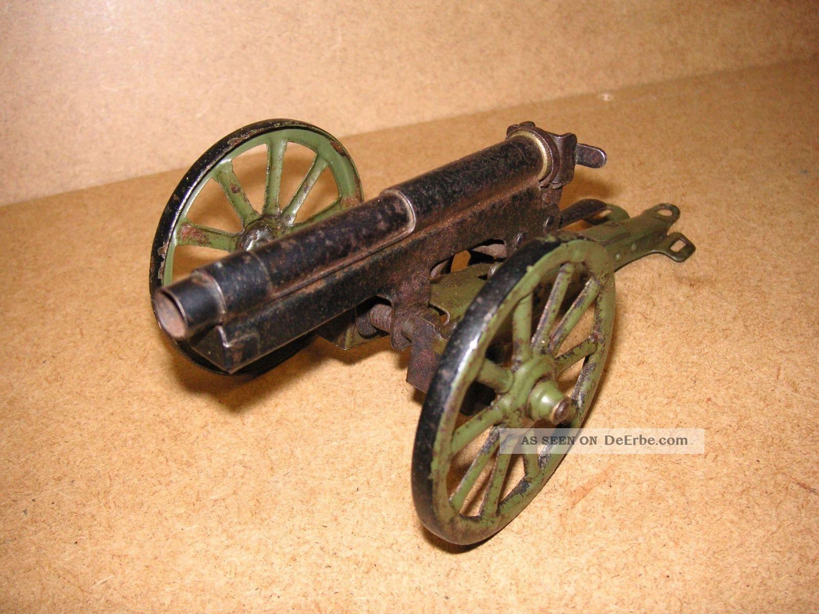 Märklin Kanone Geschütz Mörser Lafette Blech Germany Vorkrieg Tin Tole Latta Original, gefertigt vor 1945 Bild