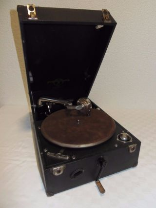 Extrem Rar - Columbia Grafonola Koffer - Grammophon Modell No.  201 Um 1925 Bild