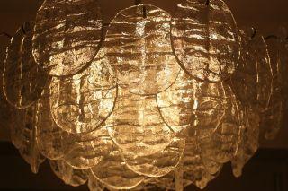 Kalmar Xxl Ice Glas Eisglas Kronleuchter,  Lüster,  Franken Ag Vintage 60er/70er Bild