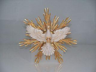 Holzschnitzerei Heiliger Geist Mit Schein ø 12 Cm Heiliggeisttaube Hl.  Geist Bild